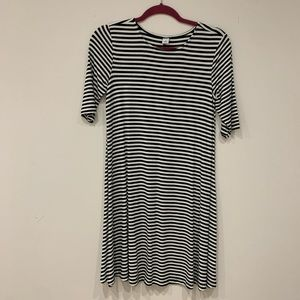 Old Navy Striped Black and White Dress